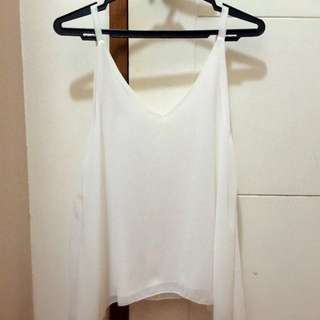 Sheer White Top (S To M)