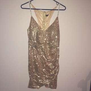 Rose Gold Body Con Minidress