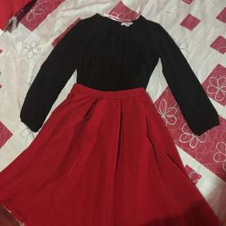 FOREVER 21 (Blouse & Skirt) Large