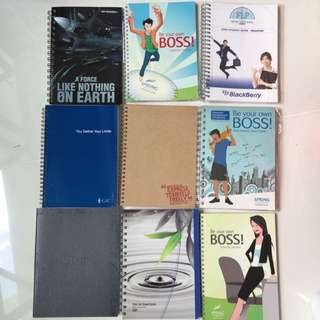 Assorted Thick Notebooks