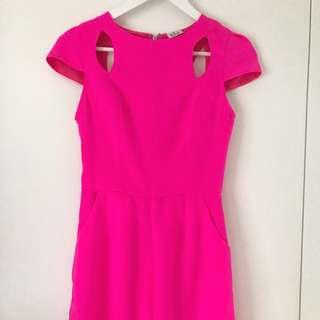 Jumpsuit - Size 6 - Bright Pink Playsuit
