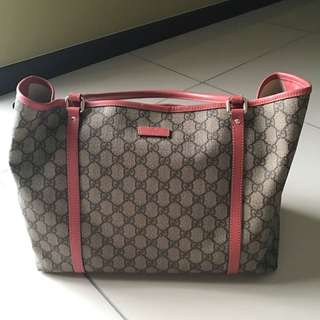 Authentic Gucci Shopping Tote