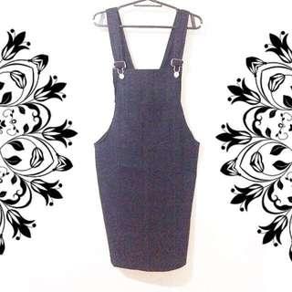 Overall Jumper Skirt Black