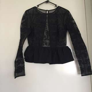 Cameo The Label (cmeo Collective) Size XS sheer Mesh Top