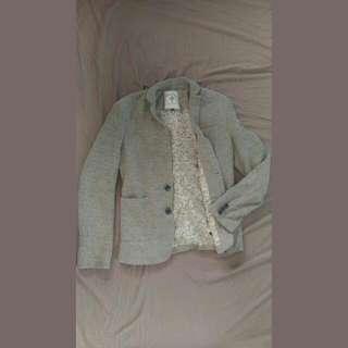 古著 碎花內裡 休閒風西裝 正裝外套