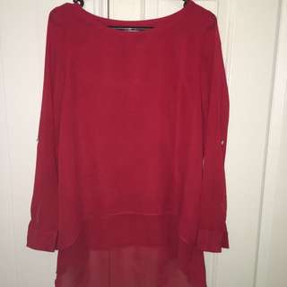 Capture Blouse, Red, Size 10