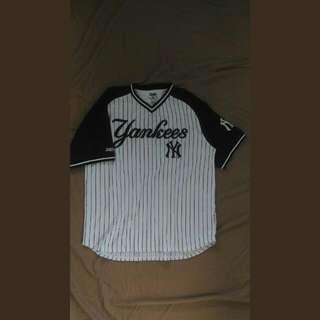 大尺碼 寬鬆 洋基棒球 T-shirt