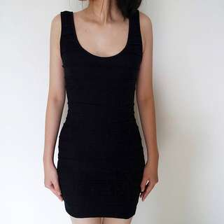 TOPSHOP Black Bandage Dress