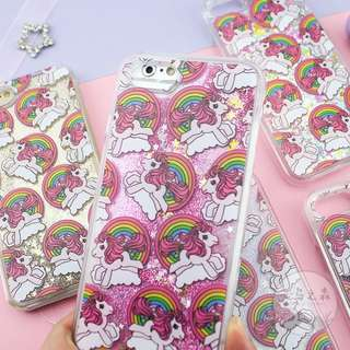 [PO] unicorn rainbow glitter hard case