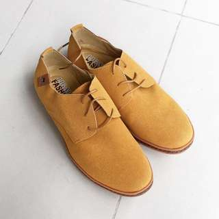 Genuine Leather Suede Shoes