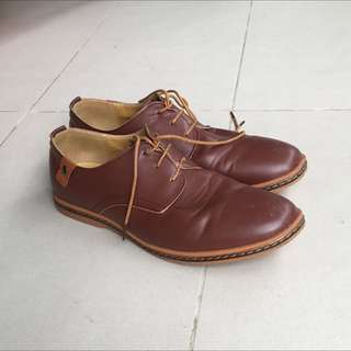 Faux Leather Casual Shoe