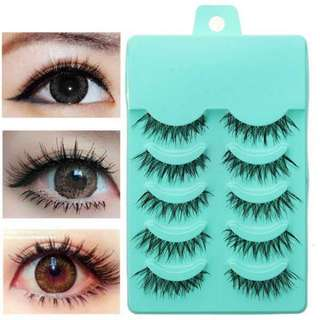 5 Pcs Natural False Eyelashes