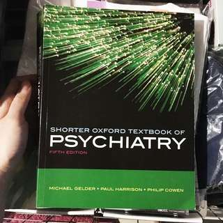 Shorter Oxford Textbook of Psychiatry. Fifth Edition.