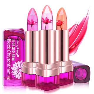 Jelly Flower Lipstick Temperature Color Changing Lip Balm Moisturizee