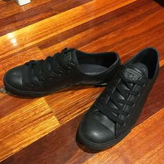 Converse Chuck Taylor All Star Dainty Leather Low Top Black Mono