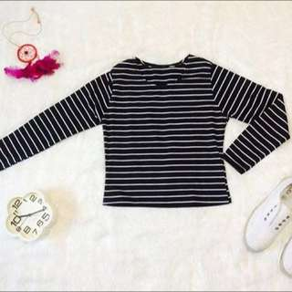 Longsleeves Stripe Crop
