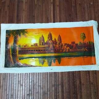 Oil Based Painting of Angkor Wat