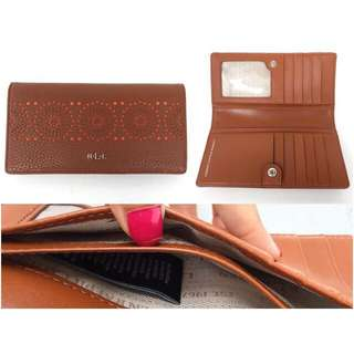 K018- Ralph Lauren brwon leather sz 17,5 x 9 cm IDR @225rb