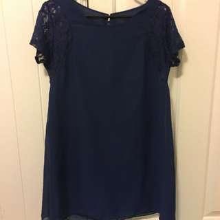 Blue Shift Dress, Size M