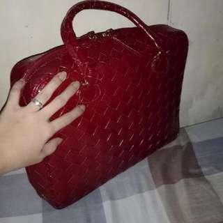Red Elegant Laptop Bag / Hand Bag