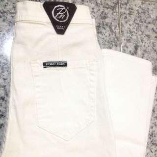 Punny Jeans White