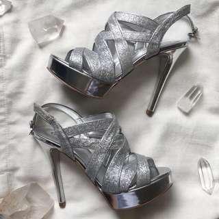 Guess Glitter High Heels - RRP $159 - Size 6.5