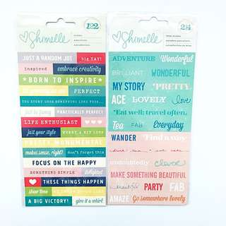 SHIMELLE WORDS AND LETTER STICKERS