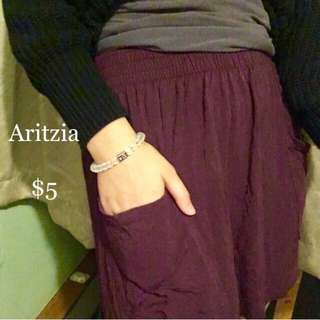Romantic Burgundy Soft Talula Aritzia Skirt