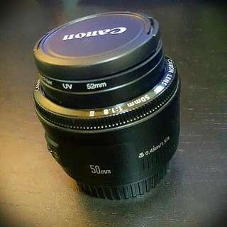 50mm Canon 1.8f Lens
