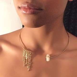 Gold Collar Bone Choker