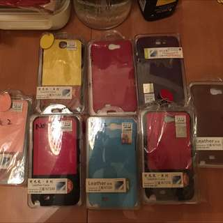 Samsung Note 2 Leather Case W/ Screen Protector
