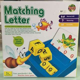 Toy Educational Matching Letter Game