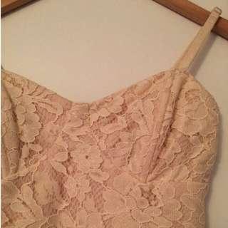 Chiffon & Lace High Low Dress