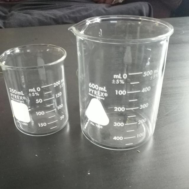 2 Pyrex Measuring Cups