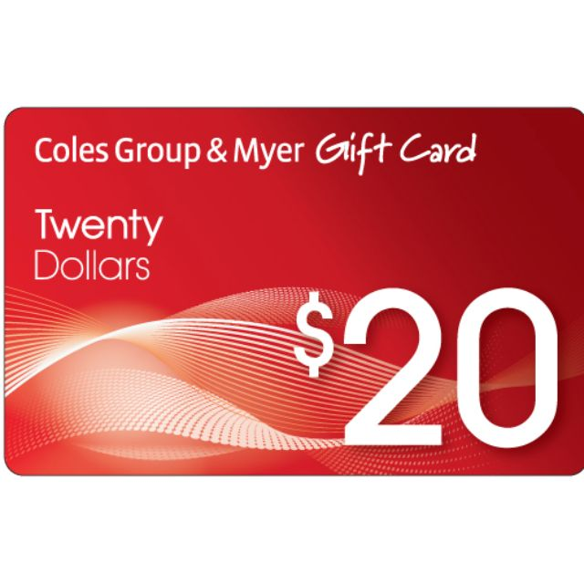 2x $20 COLES MYER Gift Cards