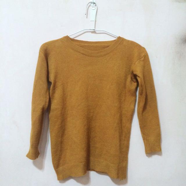 🔸芥黃針織毛衣