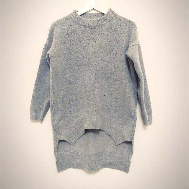 簡約質感花灰毛呢針織衫