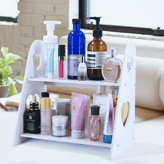 加厚雙層防水置物架桌面收纳架洗浴室置物架整理架