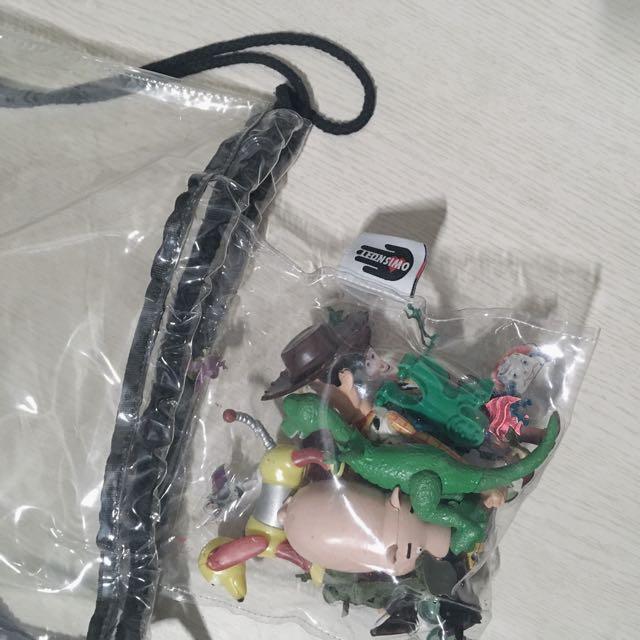 手工市集 玩具總動員透明後背包