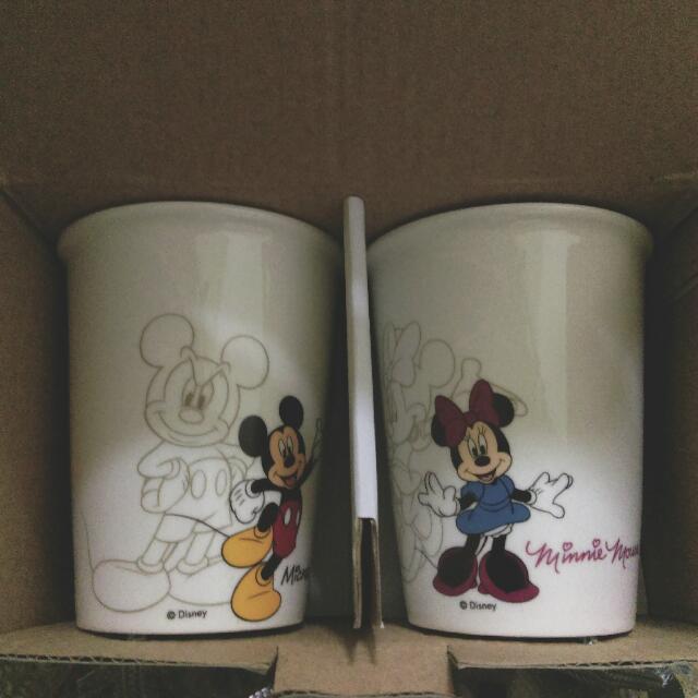 米奇米妮 迪士尼 水杯 杯子