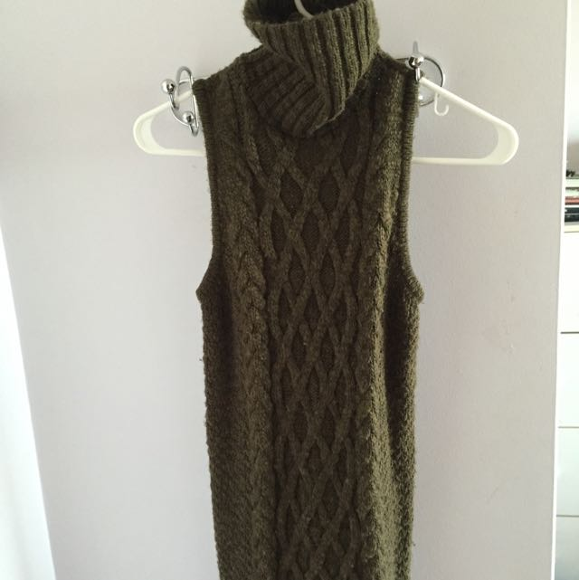 American Eagle Long sleeveless knit dress