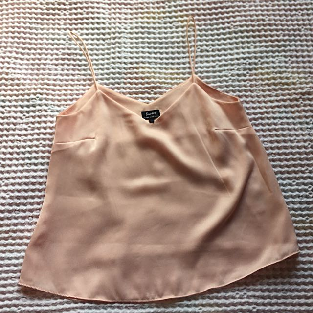 Bardot Camisole Blouse - Peach Pink/Blush WMNS AU 8