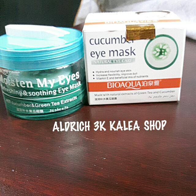 Bioaqua Cucumber Eye Mask Natural Isi 18 Pasang
