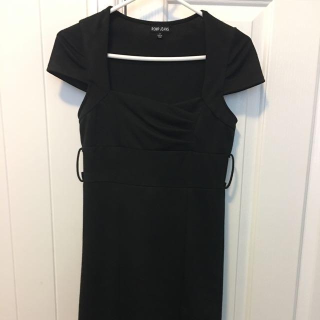 Black Dress, Knee Length, Size 8