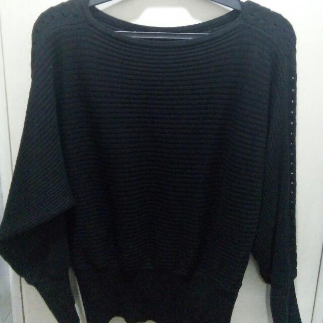 Black Knitted Blouse