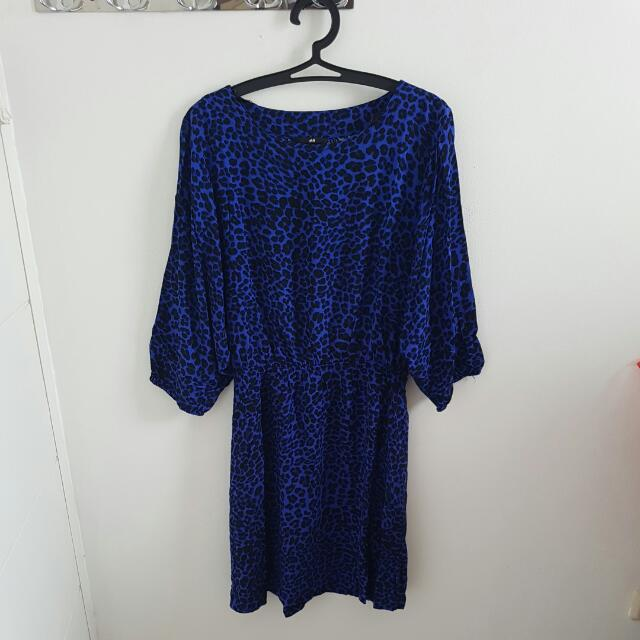 Blue Leopard Dress H&M