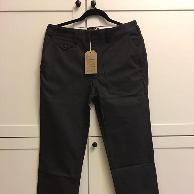 Bssp 灰黑色 微寬褲