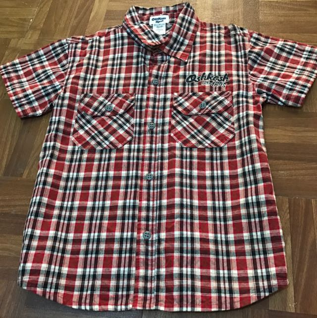Oshkosh Checkered Boys Polo