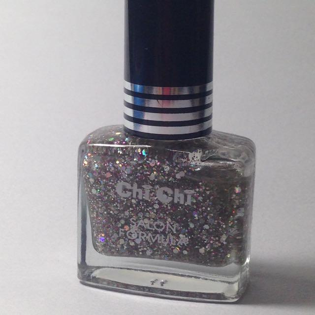 Chi Chi Nail Color SILVER GLITTER Salon Formula - Kuteks - authentic