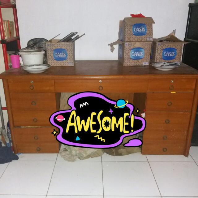 Dijual Meja Besar 11 Laci